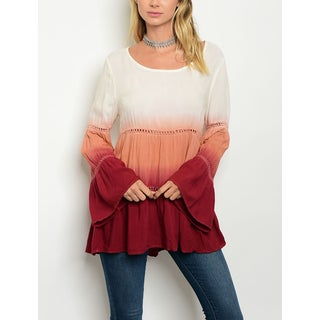 JED Women's Bell Sleeve Ombre Tunic