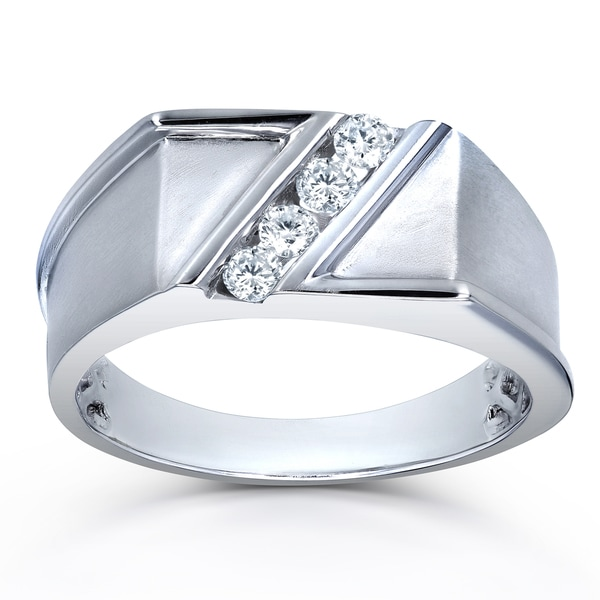 1//6 cttw, G-H,I2-I3 Diamond Wedding Band in Sterling Silver Size-5.5