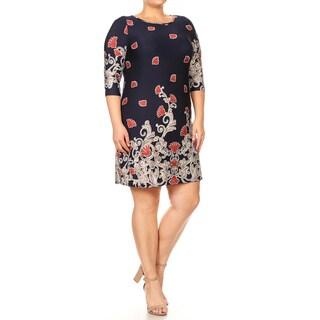 Women's Plus Size Sublimation Floral Pattern Dress