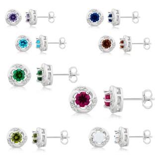 Link to Divina Sterling Silver Gemstone Swirl Stud Earrings. Similar Items in Earrings