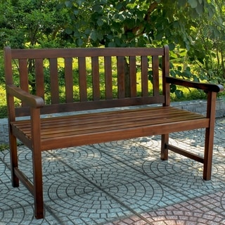 International Caravan Highland Brown Wood Garden Bench