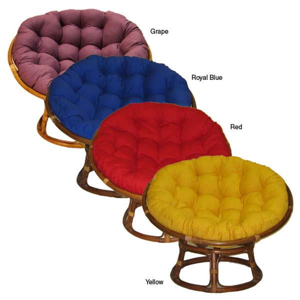 Youth-sized Cushioned Papasan Chair
