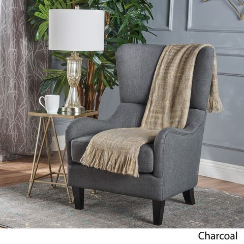 Quentin High-Back Club Chair by Christopher Knight Home