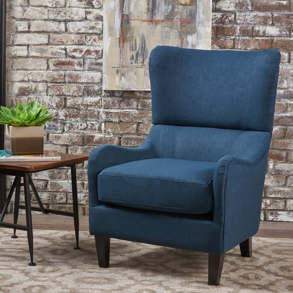 Quentin High-Back Club Chair by Christopher Knight Home. Opens flyout.