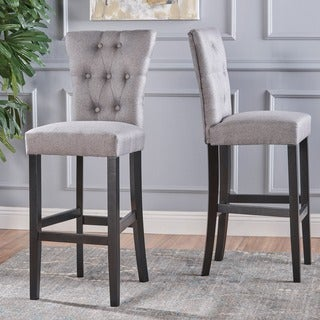 Pia Backed Fabric Barstools by Christopher Knight Home (Set of 2)