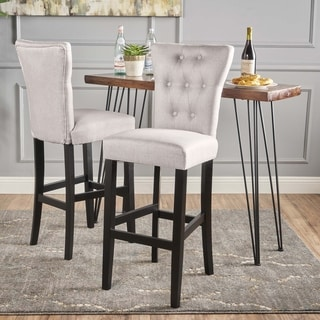 Pia Fabric Bar Stools by Christopher Knight Home (Set of 2)