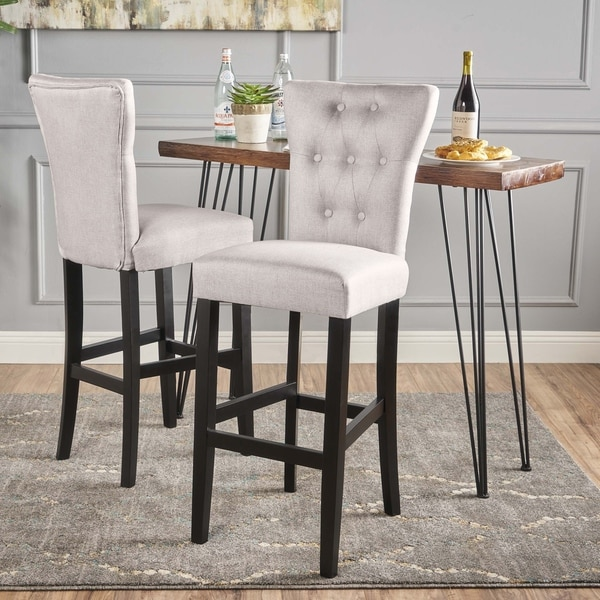 Pia Backed Fabric Barstools By Christopher Knight Home Set Of 2