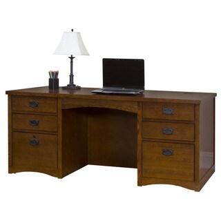 Mission Park Double Pedestal Executive Desk