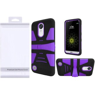 Insten Purple/ Black Hard PC/ Silicone Dual Layer Hybrid Case Cover with Stand For LG Grace 4G/ Harmony/ K20 Plus/ K20 V (Option: Purple)