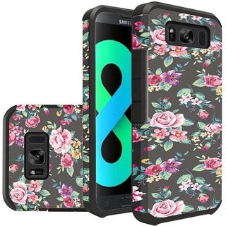 Insten Multi-Color Tropical Flowers Hard Snap-on Dual Layer Hybrid Case Cover For Samsung Galaxy S8 Plus S8+