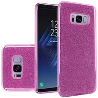 Insten Purple Hard Snap-on Glitter Case Cover For Samsung Galaxy S8