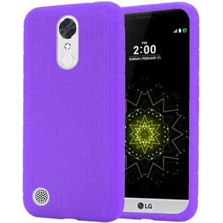 Insten Purple Rugged Soft Silicone Skin Rubber Case Cover For LG Grace 4G/ Harmony/ K20 Plus/ K20 V