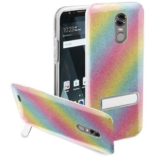Insten Colorful Rainbow Hard Snap-on Case Cover with Stand For LG Stylo 3 LS777/K10 Pro/Stylus 3/Stylo 3 Plus