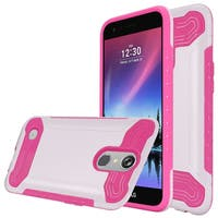 Insten White/ Hot Pink Slim Armor Hard Snap-on Dual Layer Hybrid Case Cover For LG Grace 4G/ Harmony/ K20 Plus/ K20 V