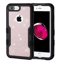 Insten Rose Gold/Black Glitter Hard Snap-on Dual Layer Hybrid Case Cover For Apple iPhone 6 Plus/6s Plus/7 Plus