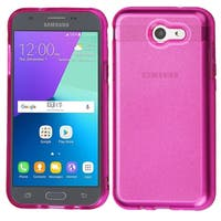 Insten Hot Pink TPU Rubber Candy Skin Case Cover For Samsung Galaxy Amp Prime 2/Express Prime 2/J3 (2017)/J3 Emerge/J3 Prime