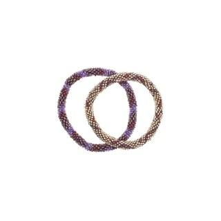 Handmade Roll-On Friendship Bracelets - Cranberry Spice (Nepal)