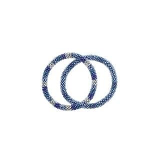 Handmade Roll-On Friendship Bracelets - Arctic Blue (Nepal)