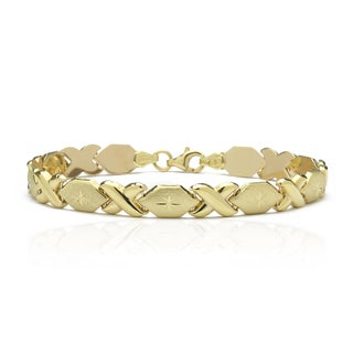 10K Yellow Gold Stamato XO Bracelet, 8 Inches