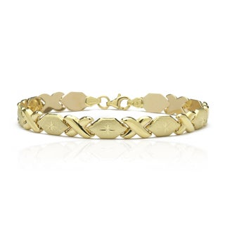 10K Yellow Gold Stamato XO Bracelet, 7 Inches