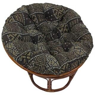Blazing Needles 44-inch Exotic Tapestry Papasan Cushion in Cheetah(As Is Item)