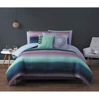 Avondale Manor Cypress 10-piece Bed in a Bag Queen Size Comforter Set in Coral/Blue (As Is Item)