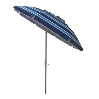 7 Foot Stripe Beach Umbrellas with Tilt and Travel Bag (4 options available)