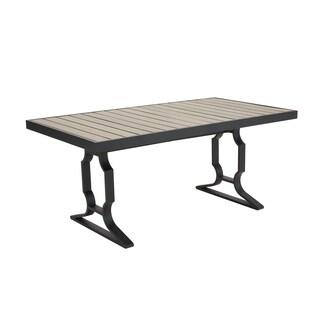 Madison Park Fowler Dark Grey Outdoor Rectangular Table