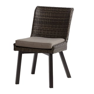 INK+IVY Pacifica Dark Grey Outdoor Side Chair -Set of 2