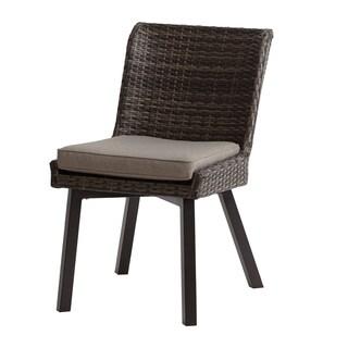 INK+IVY Pacifica Dark Grey Outdoor Side Chair -Set of 2