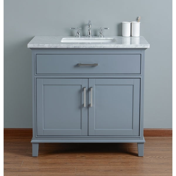 Shop Stufurhome Leigh 36 In Grey Single Sink Bathroom