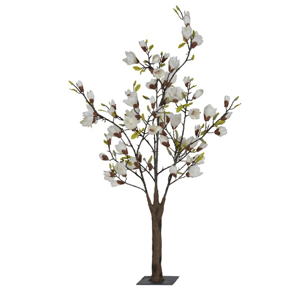 Shop White 45 Foot Artificial Japanese Magnolia Tree Free