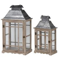 Brown/ Silver Classic Scape Lanterns (Set of 2)