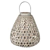 "D17x18"" Coconio Wood Lattice Lantern - Tapered"