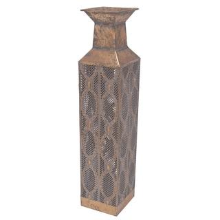 """5.5x5.5x24"""" Metal Vase"""