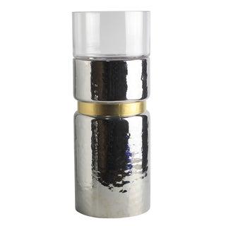 "D6x15"" Halloway Silver Candle Holder - Medium"