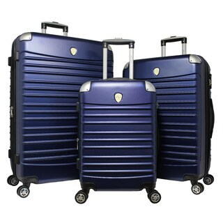 World Traveler 3-piece Hardside Lightweight Spinner Rolling Luggage Set