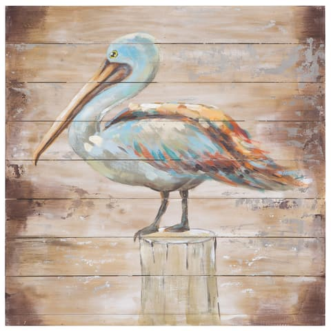 Yosemite Home Decor Rustic and Winged Original Hand-Painted Wall Art