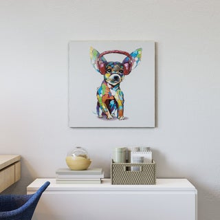 Yosemite Home Decor Dog Beats IV Original Hand-Painted Wall Art - multi