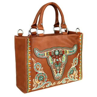 Montana West Embroidered Collection Concealed Handgun Satchel Handbag