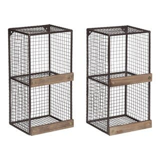 Kate and Laurel Linde 2-pack Metal Cage Organizer Wall Shelves|https://ak1.ostkcdn.com/images/products/16720853/P23035156.jpg?impolicy=medium