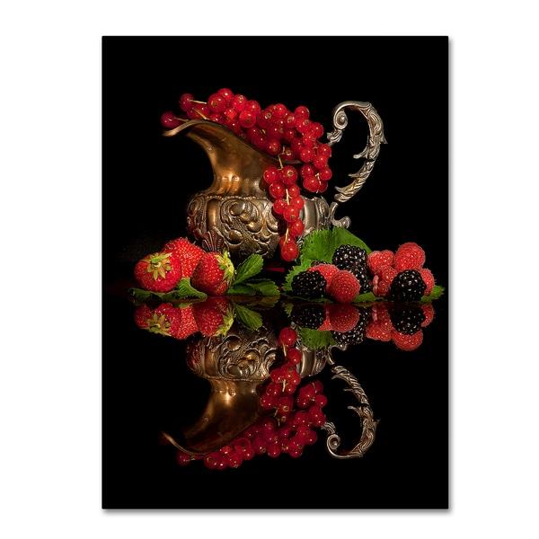 Aida Ianeva 'Red Fruits' Canvas Art