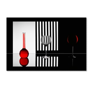 Doris Reindl 'Just Red' Canvas Art