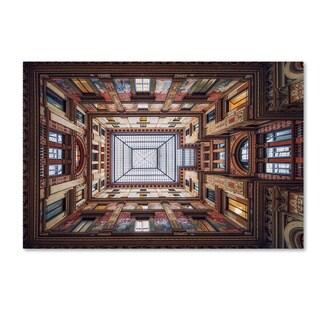 Massimo Cuomo 'Galleria Sciarra, Rome' Canvas Art
