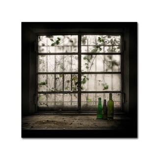 Vito Guarino 'Still-Life With Glass Bottle' Canvas Art