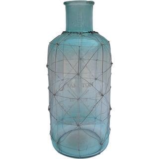 Mercana Ampulla I (Large) Aqua Blue Glass Vase
