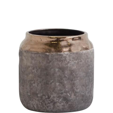 Mercana Ruga (Short) Gold Ceramic Vase