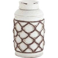 Mercana Cannata White Ceramic Vase