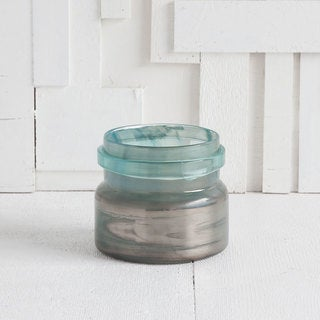 Mercana Fusos (Small) Green Glass Candle Holder
