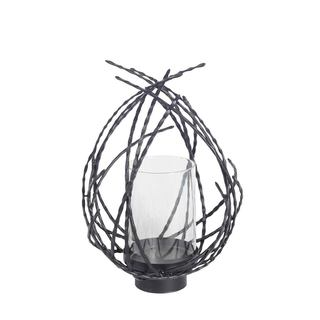 Mercana Calais III Black Metal Candle Holder